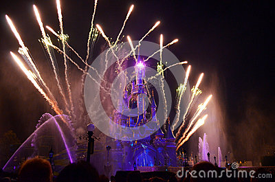 Disney Fireworks Editorial Stock Image