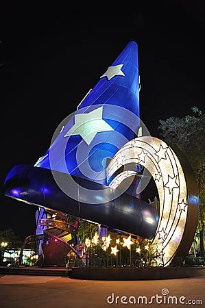 Disney Hollywood at night in Disney World Orlando Editorial Stock Photo