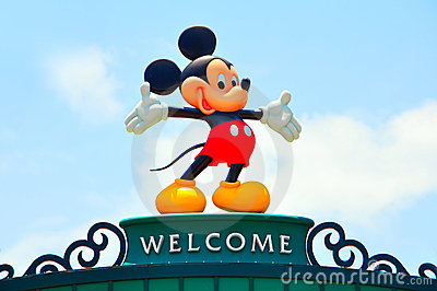 Disney icon mickey mouse Editorial Stock Image