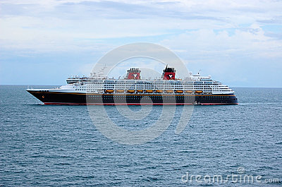Disney Magic Cruise Ship Sea Ocean Editorial Stock Image