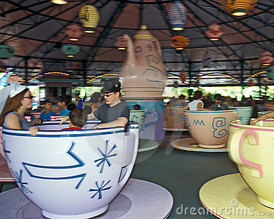 Disney Magic Kingdom Mad Tea Party ride Editorial Stock Photo