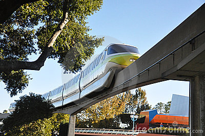 Disney Monorail in Epcot Editorial Stock Image