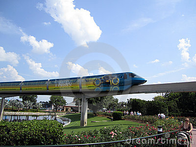 Disney Monorail Orlando FL Editorial Photography
