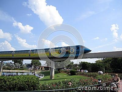 Disney Monorail Train Orlando FL Editorial Photography