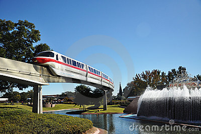 Disney Monorail Train in Epcot Editorial Photography