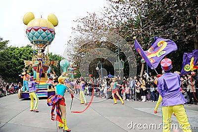 Disney parade in Hongkong Editorial Photo