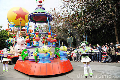 Disney parade in Hongkong Editorial Photo