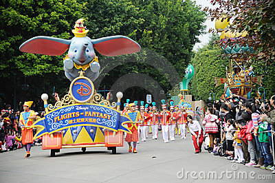 Disney parade in Hongkong Editorial Stock Image