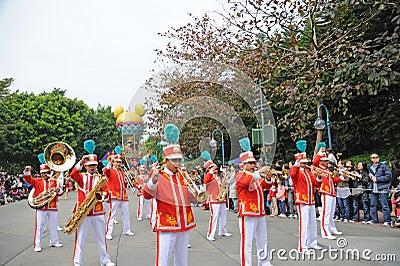 Disney parade in Hongkong Editorial Image