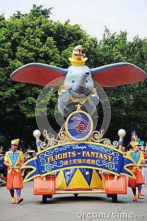 Disney parade in Hongkong Editorial Stock Photo