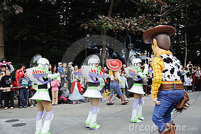 Disney parade in Hongkong Editorial Stock Photo
