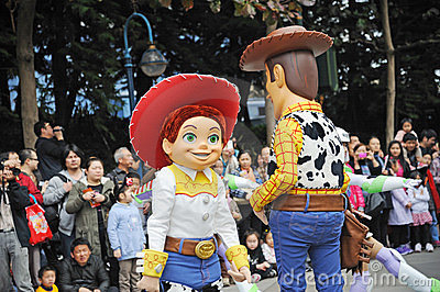 Disney parade in Hongkong Editorial Image