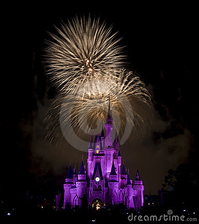 Disney`s Firework Editorial Image