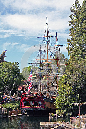 Disney s Sailing Ship Columbia Editorial Stock Photo