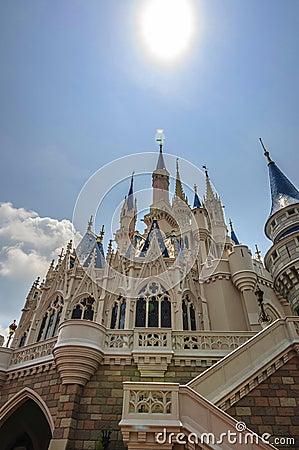 Disney slott Redaktionell Fotografering för Bildbyråer