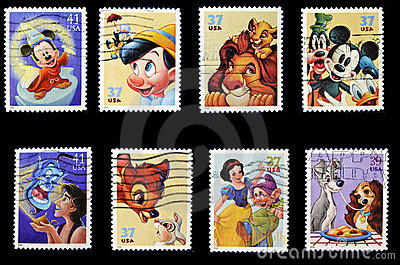 Disney stamp collection Editorial Image