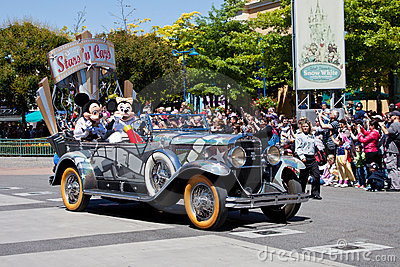 Disney Stars  n  Cars Parade Editorial Photo