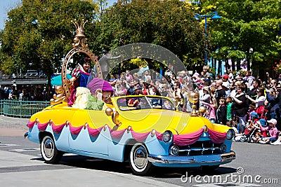 Disney Stars  n  Cars Parade Editorial Photo