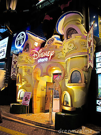 Disney store at Shibuya in Tokyo, Japan Editorial Stock Photo