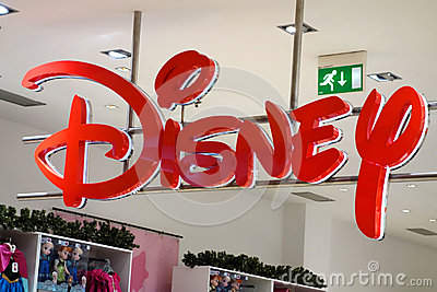 Disney Store Sign Editorial Stock Image