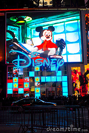 Disney Store, Times Square, NYC Editorial Stock Image