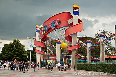 Disney Village entrance in Disneyland Resort Paris Editorial Image