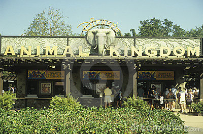 Disney World Animal Kingdom entrance Editorial Image