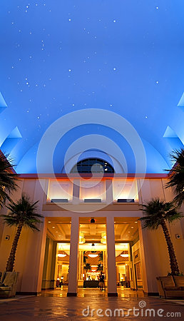 Disney World Dolphin Resort Night Sky Editorial Photo