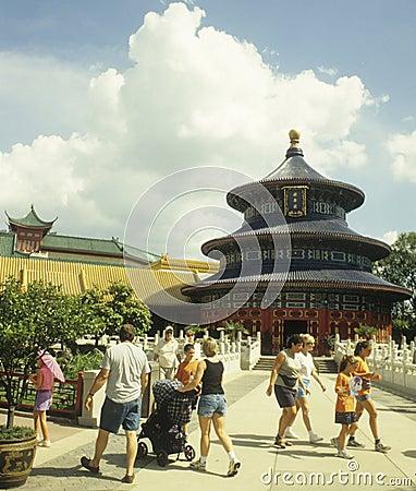 Disney World EPCOT World Showcase - China Editorial Image