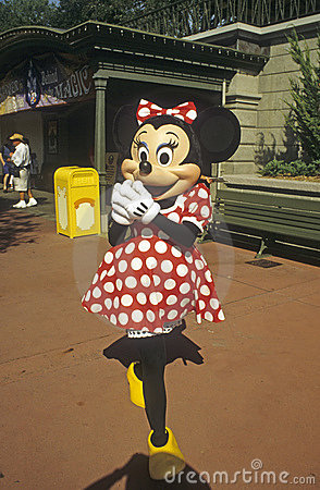 Disney World Magic Kingdom - Minnie Mouse Editorial Stock Photo