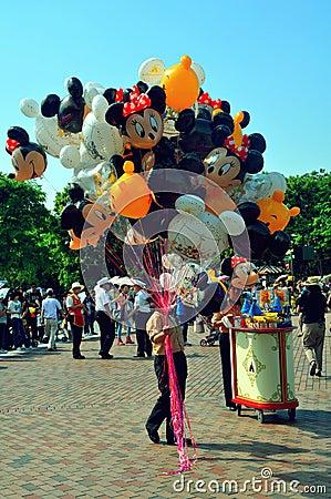 Disneyland balloon seller Editorial Photo