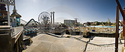 Disneyland California Adventure Construction Panor Editorial Image