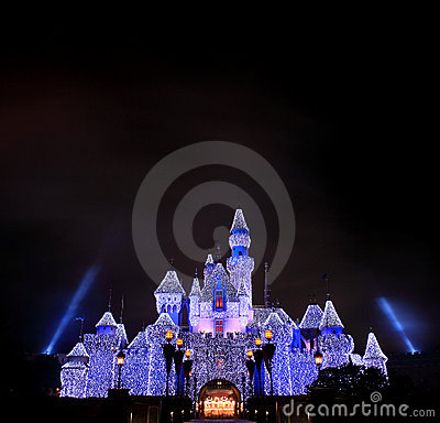Disneyland castle Editorial Photography