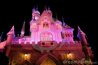 Disneyland Castle with Christmas decoration Editorial Stock Photo