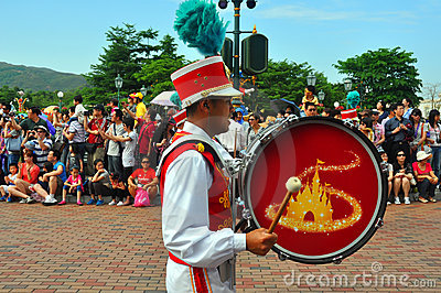 Disneyland drum player Editorial Photography