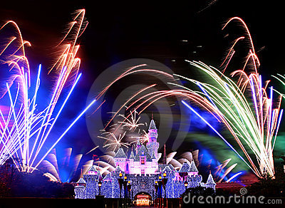 Disneyland Fireworks Editorial Stock Photo