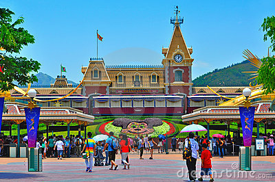 Disneyland hong kong Editorial Image