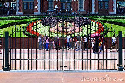 Disneyland hong kong entrance Editorial Photo