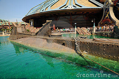 Disneyland  - Model ship Nautilus Editorial Image