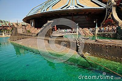 Disneyland  - Model ship Nautilus Editorial Image