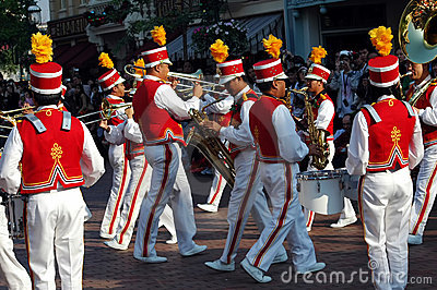 Disneyland music players Editorial Stock Image