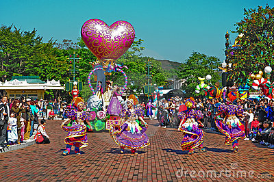 Disneyland parade Editorial Stock Image