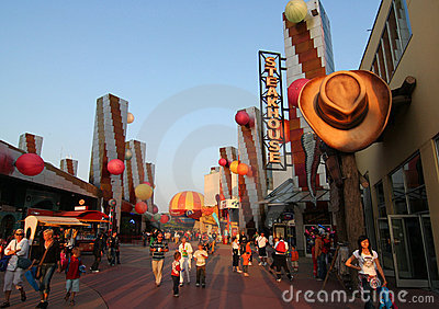 Disneyland paris Redaktionell Arkivbild