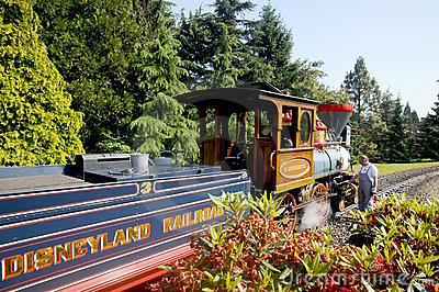 Disneyland Paris - railroad a replica Editorial Image