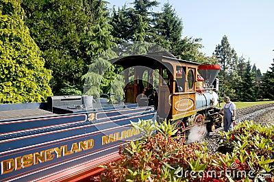Disneyland Paris - railroad a replica Editorial Image