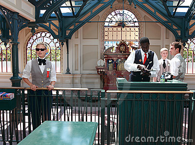 Disneyland Railway station Editorial Stock Photo