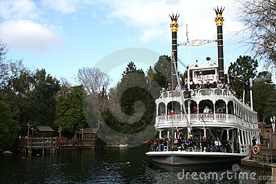 Disneyland Riverboat Editorial Stock Image