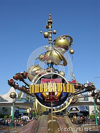 Disneyland S Tomorrowland Editorial Photo Image 12184251