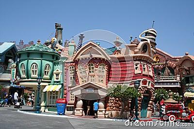 Disneyland s toontown Redaktionell Fotografering för Bildbyråer