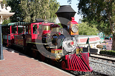 Disneyland Train Editorial Stock Photo